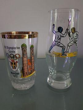 Glas, Porzellan antiquarisch - Raritäten Olympiade 1972 München Oktoberfest