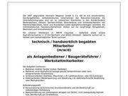 Anlagenbediener Baugeräteführer Werkstattmitarbeiter m w