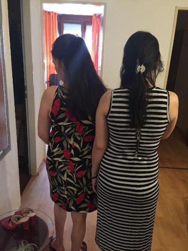 Entspannungsmassage von 2 koreanischen Schwestern