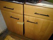 Küchenunterschränke Buche inkl Spülbecken und