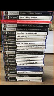 verschiedene PS2 Spiele