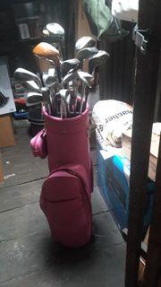 Golftasche mit div Golfschläger