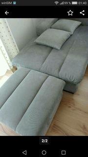 Sofa mit Rameceteil und Hocker