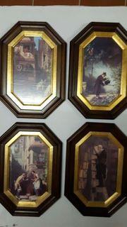 4 Bilder mit Rahmen für