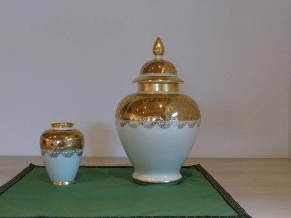 DECKELVASE und kleine Vase