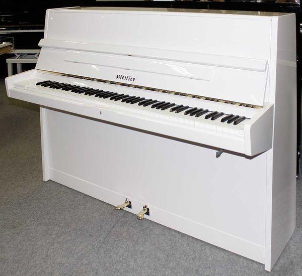 Klavier Pfeiffer 112 weiß poliert
