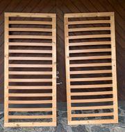 Zwei Holzlattenroste 90x200