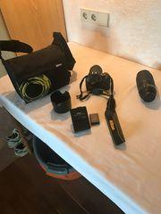 Verkaufe Nikon Kamera mit Zubehör