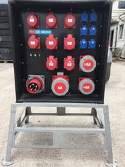 Steckdosenverteiler 125A mit Stapelbarer Hocker