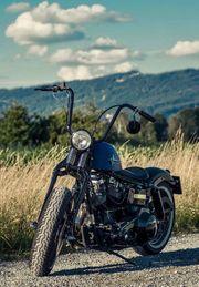 Harley Shovelhead Springer Bobber