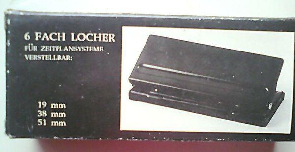 Locher - 6 fach Locher für Zeitplansysteme