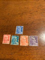 Satz sehr seltener Briefmarken Frankreich