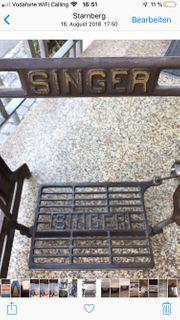 Tisch Singer Eisengestell Glaaplatte 95
