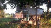 Rückewagen Forstanhänger mit Rungen ohne