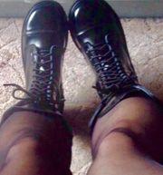 getragene Stiefel gr 6