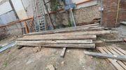 Balken Holz Fichte Tanne aus
