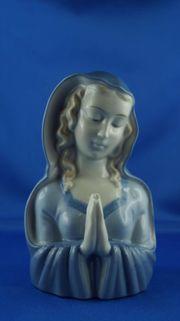 Porzellanfigur betende Madonna in blau