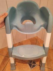 Kiddyloo Toilettentrainer blau weiß
