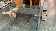Glas Schreibtisch - L08127
