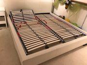 Kunstleder Bett weiß 200x220