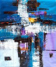 Großes neues BALI-Gemälde FUTURISTISCHE KOMPOSITION