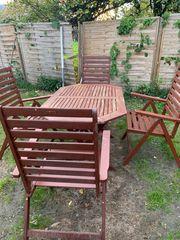 Gartentisch mit 4 stühlen aus
