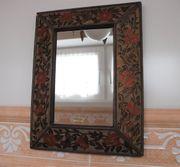 Spiegel mit Rahmen-Hinterglasmalerei