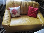Leder-Sofa 3tlg