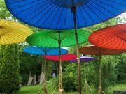 Bambus Sonnenschirm Urlaubsflair Naturprodukt