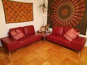 Wohnlandschaft Couch Sofa echt Leder