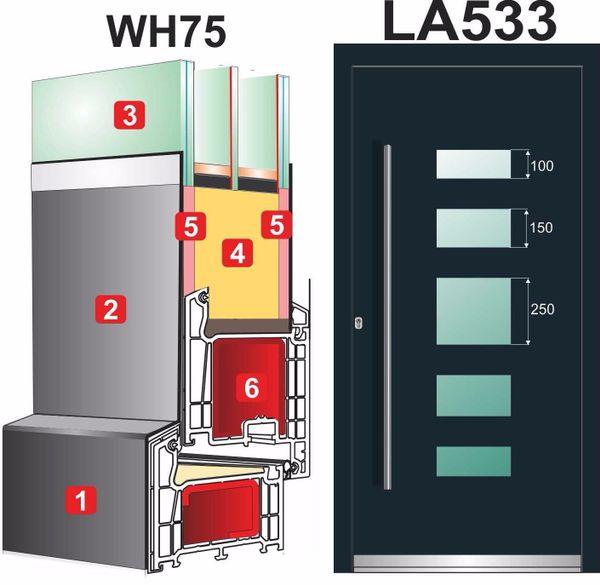 WeltHaus-türen Haustür WH75 Aluminium Tür