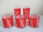 5 Original Coca Cola Gläser