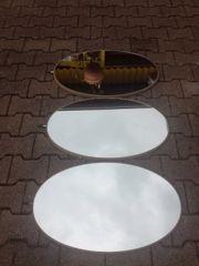 Spiegel oval 3er Set Deko