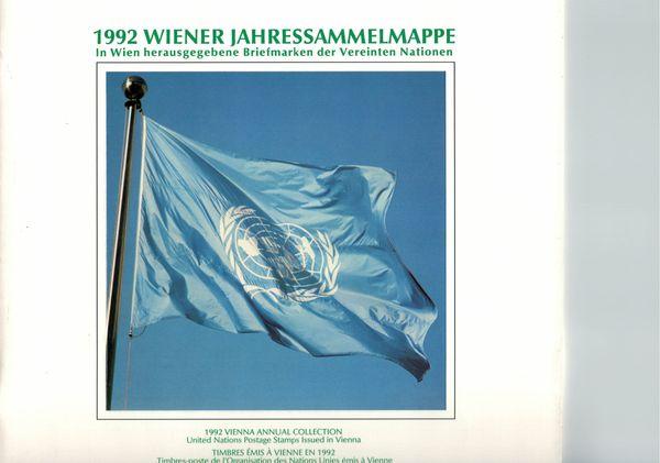 UNO WIEN JAHRESMAPPE 1992 - Gestempelt