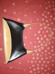 Handtasche schwarz-braun