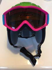 Kinderskihelm Alpina inkl UVEX Skibrille