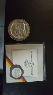 Echtheits Zertifikat Münze