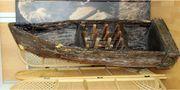 Weinregal Boot Riverboat altes Bootregal