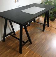 Schreibtisch schwarz Ikea