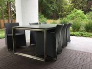 Cane-line Esstisch mit 6 Stühlen