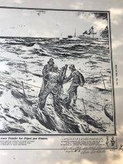 Origdruck 1916 U-Boot gibt Signal
