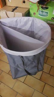 Faltbox Wäschebox grau Mülleimer Tretmülleimer