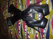 schwarze Overknees Gr 39