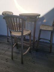 Outdoor Teakmöbel Bartisch 3 Barstühle