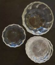 Bleikristall Schale mit 9 Stück