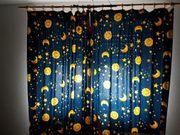 Kinderzimmer Vorhänge Lampe blau Sonne