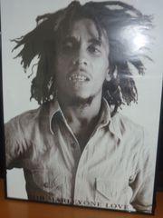 Bob Marley Schwarz Weiß Bild