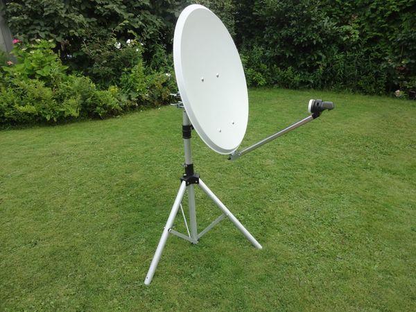 Sat-Antenne-Schüssel 65cm mit Stativ- Sat-Finder