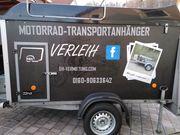 Motorrad Transport Anhänger Verleih ab