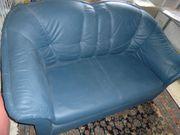 2-Sitzer Sofa mit Bettfunktion Lederimitat